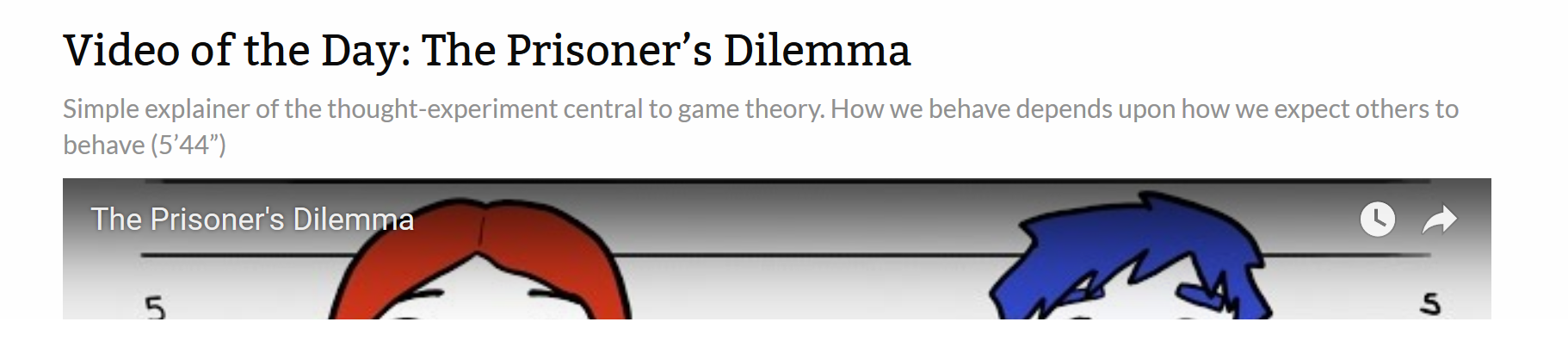 an analysis of different perspectives on the prisoners dilemma This paper presents a summary of tournaments held in 1980, 2004 and  with  the prisoners dilemma is applied to many fields, in politics [1], biology   competitions have given new perspectives on the social and biological.
